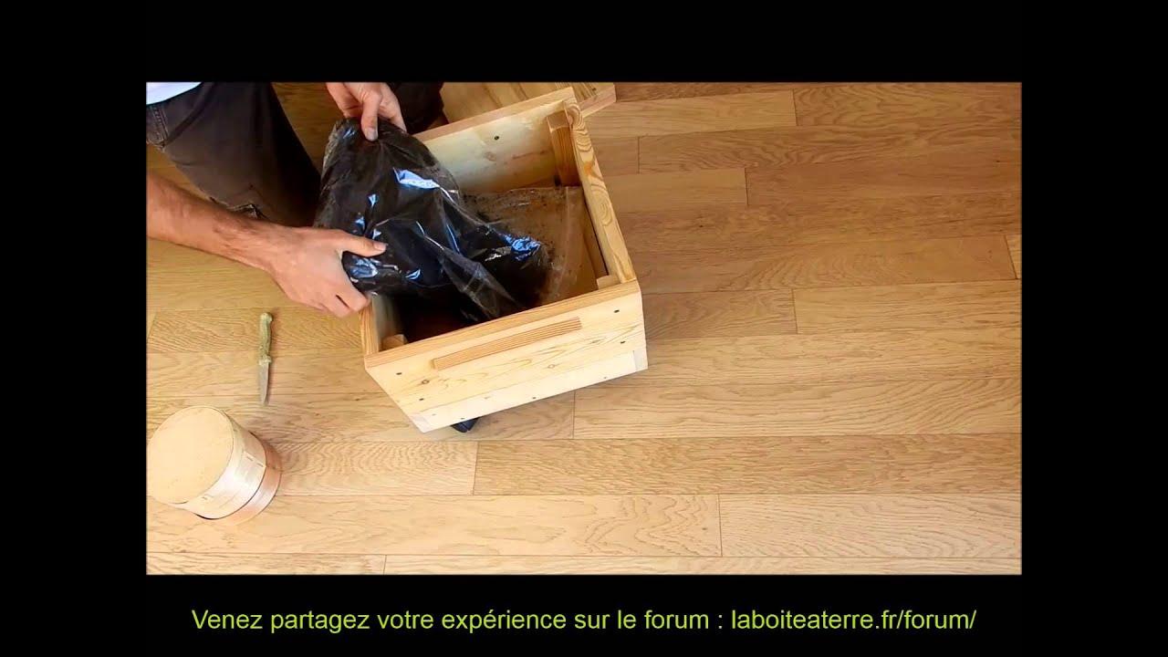lombricomposteur en bois la bo te terre notice d. Black Bedroom Furniture Sets. Home Design Ideas