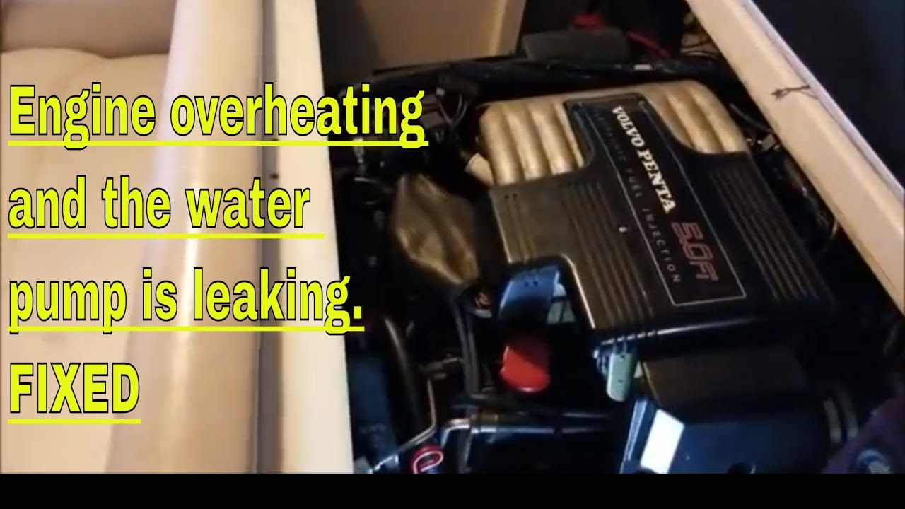 Volvo Penta 5 0 Overheating Melted exhaust boots and a bad water pump