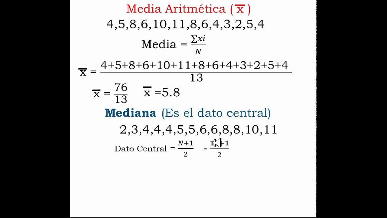 Como se calcula la media aritmética