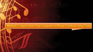 import music to iphone x