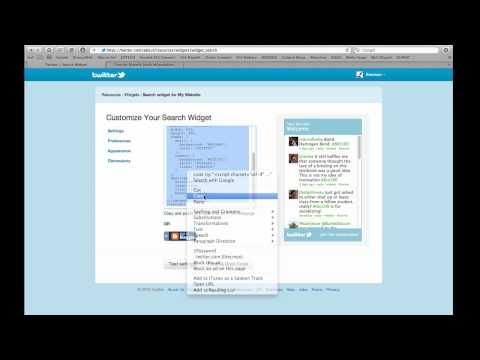 Adding a twitter conversation to your course