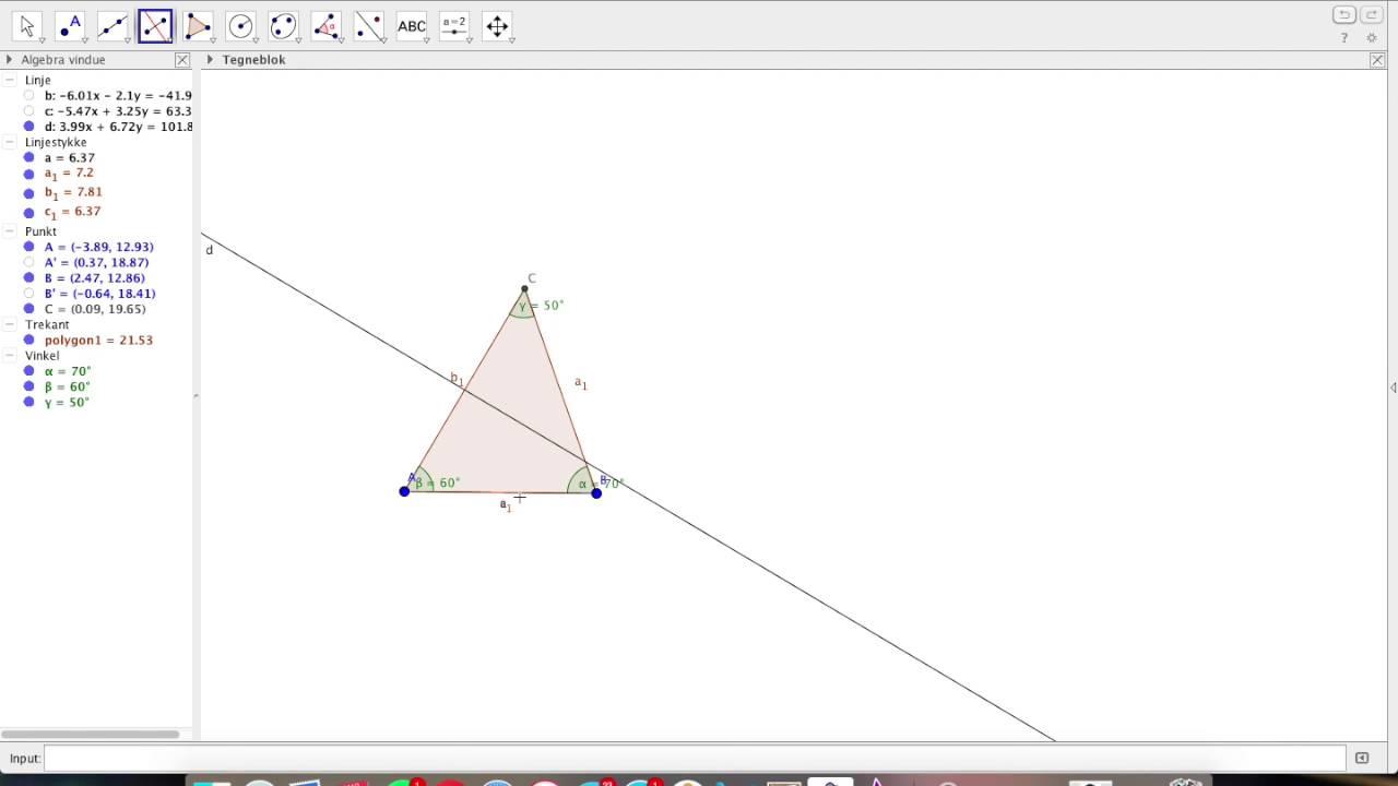 Matematik og søde geogebra opgaver #venner