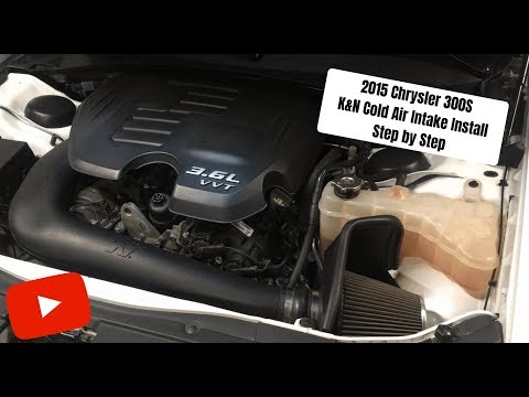 2015 Chrysler 300S K&N Cold Air Intake 'How To' Install (Step By Step Install)