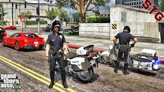 LAPD MOTORCYCLE PATROL!!!| #148 (GTA 5 REAL LIFE PC POLICE MOD)
