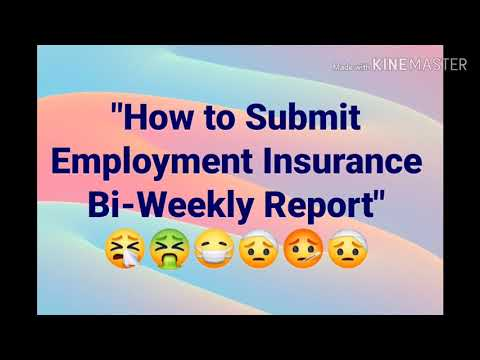 How To Submit Employment Insurance Bi-Weekly Report