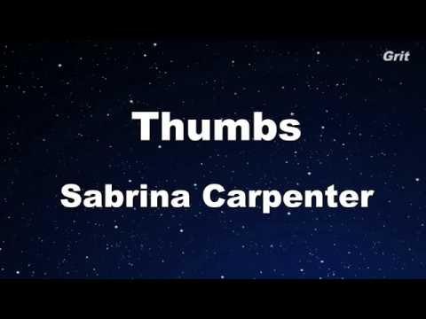 Thumbs - Sabrina Carpenter Karaoke 【With Guide Melody】 Instrumental