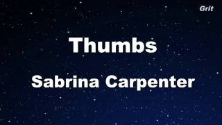 Thumbs - Sabrina Carpenter Karaoke 【With Guide Melody】 Instrumental
