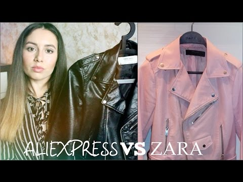 Кожаная куртка с ALIEXPRESS VS ZARA I Как одеваться стильно и не дорого