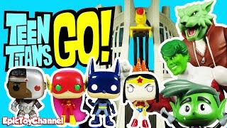 TEEN TITANS GO! Wonder Raven, Robin as Batman & Starfire Flash Justice League by Epic Toy Channel