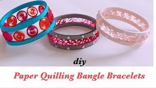 How To Make Quilling Bangle Bracelets||Paper Quilling Bangles||Quilling Jewelry