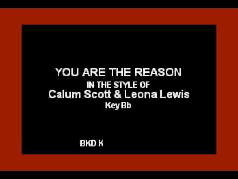 leona-lewis-&-calum-scott---you-are-the-reason-(karaoke-with-lyrics)