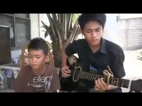 Ellen invites talented filipino kid!