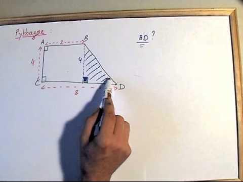 exercices maths PYTHAGORE AU COLLEGE pour le brevet - YouTube