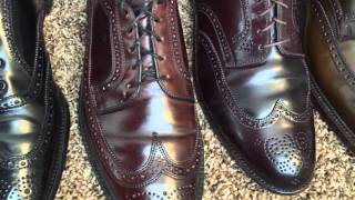 Shell Cordovan Wingtips! Alden vs Allen Edmonds vs Crockett and Jones