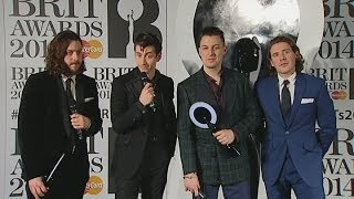Brits 2014 Winners Room: Arctic Monkeys