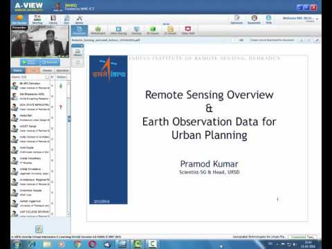 11 Feb 2016 Remote Sensing Overview & Earth Observation Data for Urban Planning Shri Pramod Kumar