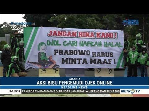 Pengemudi Ojek Online di Jakarta Juga Mendesak Permintaan Maaf dari Prabowo