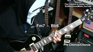 SPOOKY Classics IV  Guitar Lesson How To Play REVISED 2017 EricBlackmonGuitar HD Resimi
