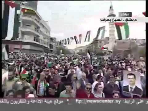 Syrian Ba'ath Party Anthem - Live Damascus