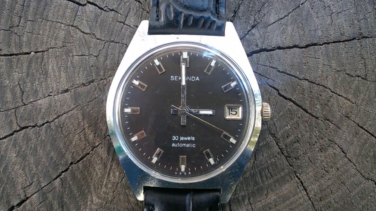2477e3976d38 SEKONDA Poljot (Секонда) 30 Jewels Mechanical Automatic USSR Watch ...
