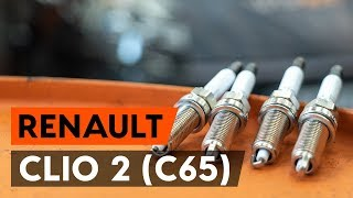 How to change Spark plug set on RENAULT CLIO II (BB0/1/2_, CB0/1/2_) - online free video