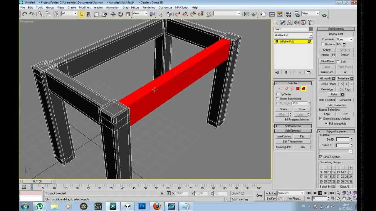 Tutorial modelado de una mesa 3d max youtube for Modelar habitacion 3d max
