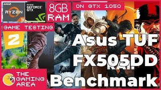 Asus TUF FX505DD Gaming Tests | 20 Games (Just Cause 4, Sekiro, Fortnite, MHW)