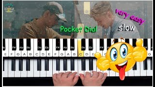 Marcus & Martinus - Pocket Dial - SLOW EASY Piano Tutorial /Lesson