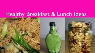 Healthy Breakfast & Lunch Ideas For School Or Work Vegan Friendly
