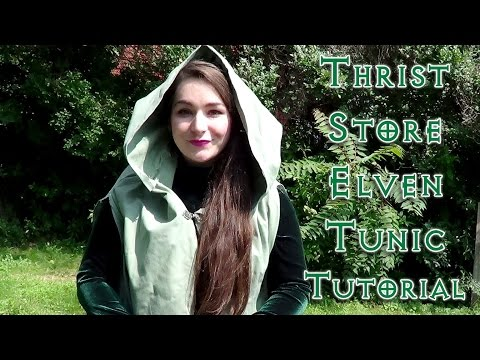 Thrift Store Dress into Elven Tunic Tutorial