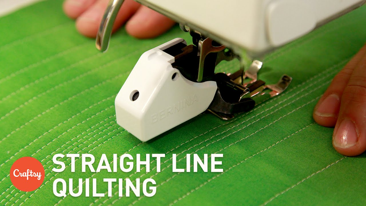 Easiest Method For Straight Line Quilting Machine Quilting