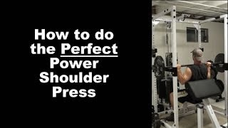 How to do the Perfect Power Shoulder Press