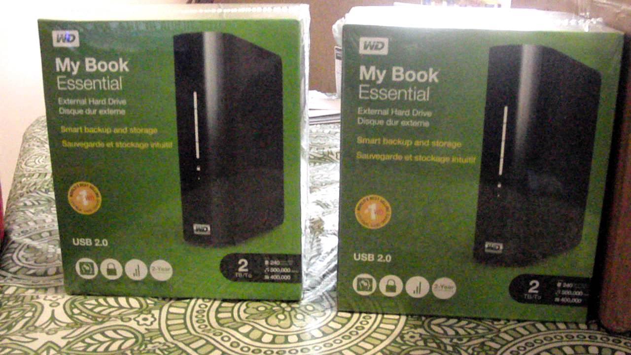 Western Digital My Book Essential 2TB USB 2 0 unboxing