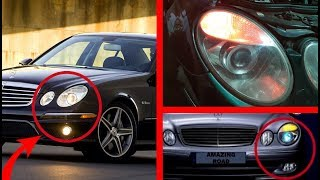 Hidden Function of Fog Lights on Mercedes W211, W219, CLS / Error Front Left, Right Turn Signal lamp