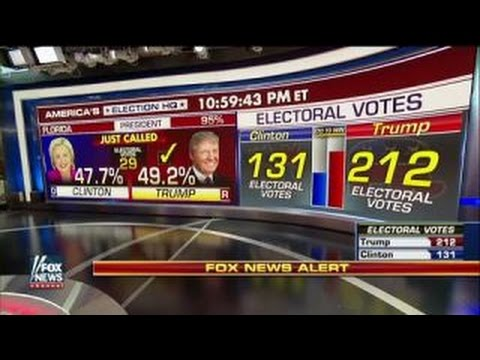 Fox News projects: Donald Trump wins FL, Clinton wins CA