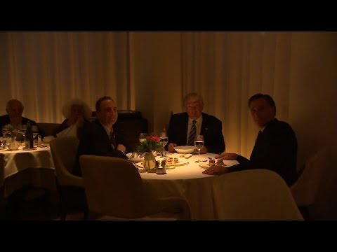 What Donald Trump and Mitt Romney Ate During Their Gourmet Dinner Together