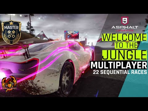 Asphalt 9 MP-  When The Luck Is On My Side. (Welcome To The Jungle MP Season) [22 Sequential Races]