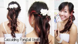 Cascading Ponytail for Prom