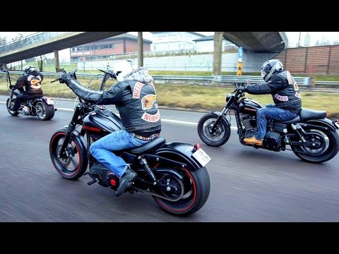 Hells Angels in Poland - Police a lot of police !!! World Run 2016