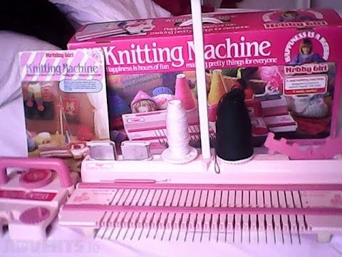 Tutorial tomy knitting machine  toy knitting machine (sorry audio/still or skip)