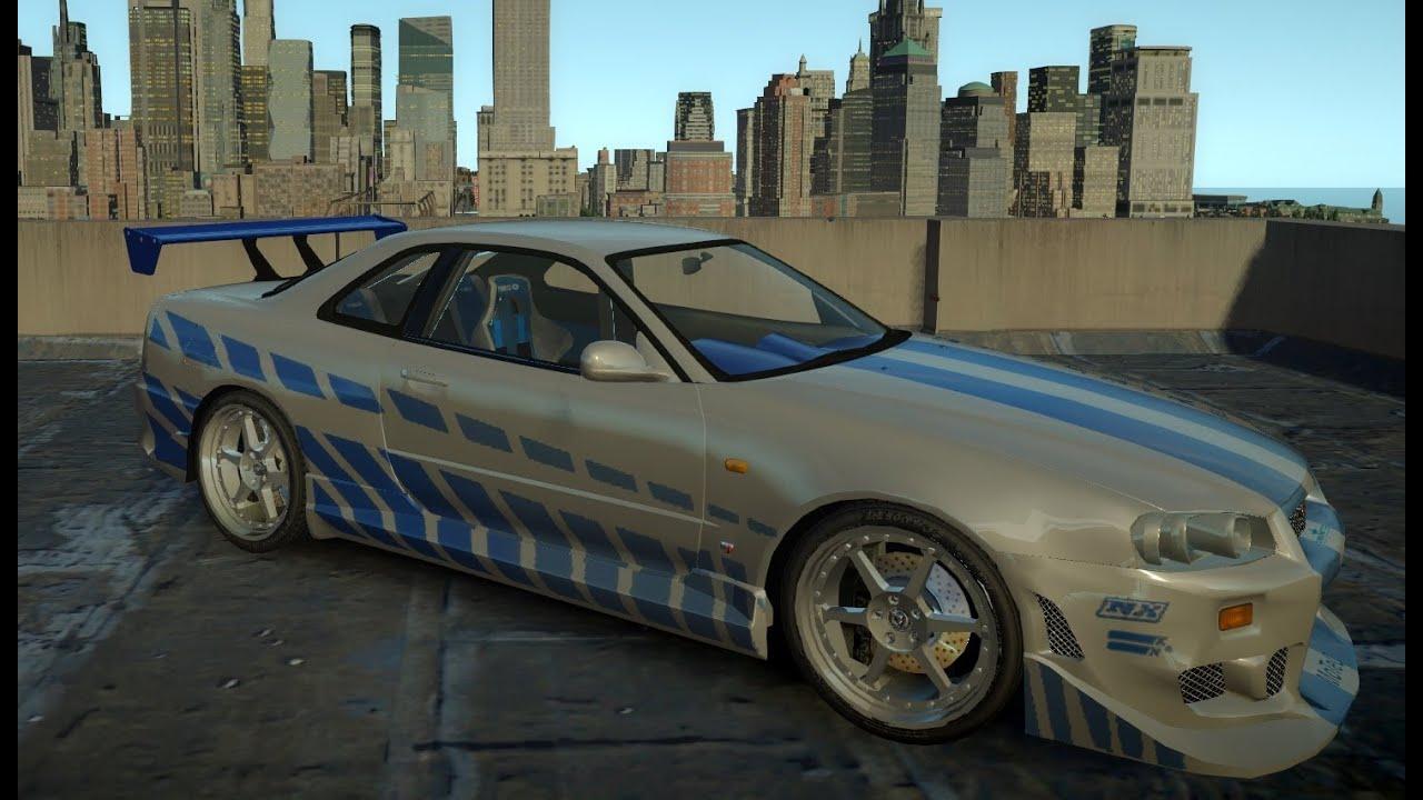Nissan Gtr Fast And Furious >> GTA IV 2Fast2Furious Nissan Skyline GT-R R34 Gameplay - YouTube