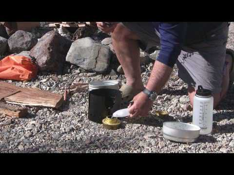 trangia swedish army cook kit demo youtube. Black Bedroom Furniture Sets. Home Design Ideas
