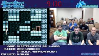 Blaster Master :: SPEED RUN (0:26:58) (PAL, 4-Boss) [NES] *Live at #SGDQ 2013*