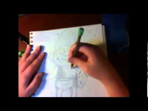 How to draw Papa Smurf (live action version)