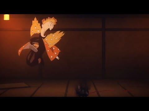 [Chàng trai vàng trong làng tấu hài :)]  Zenitsu kills a Demon Demon Slayer |Kimetsu no Yaiba Ep 12