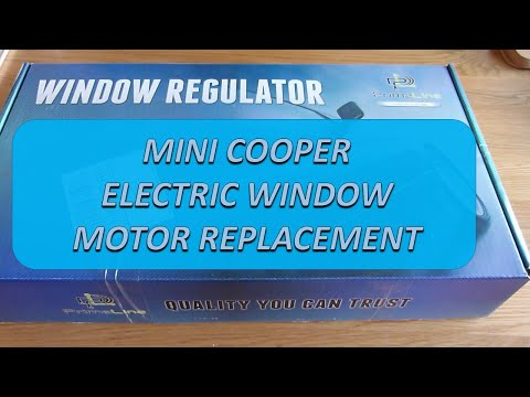 Mini Cooper Electric Window Motor Window Regulator Youtube