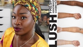 Lush || 40 Shades Slapstick Foundation || Demo & Review