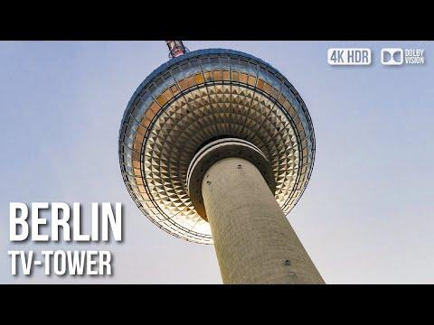 Berlin TV Tower (Fernsehturm) - Top Floor 360° Berlin View - 🇩🇪 Germany - 4K Walking Tour