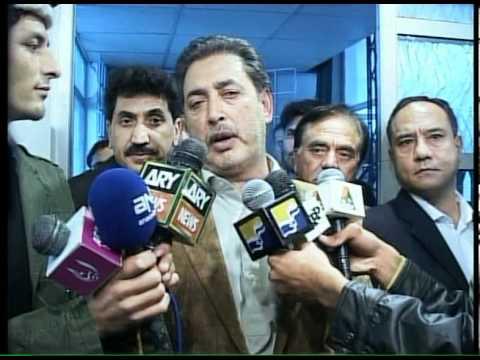 Mehdi Shah Inaugrates Bad-e-Shumal Islamabad Office.mpg