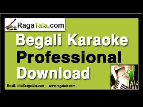 Ke tumi amare dako - Bengali Karaoke - Sandhya Mukherjee